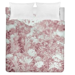 Pink Colored Flowers Duvet Cover Double Side (queen Size)