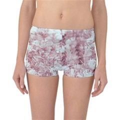 Pink Colored Flowers Reversible Boyleg Bikini Bottoms