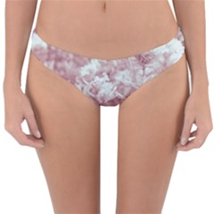 Pink Colored Flowers Reversible Hipster Bikini Bottoms