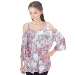 Pink Colored Flowers Flutter Tees