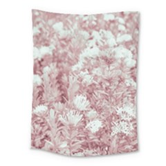 Pink Colored Flowers Medium Tapestry