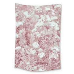 Pink Colored Flowers Large Tapestry