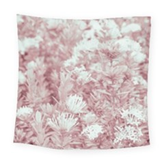 Pink Colored Flowers Square Tapestry (large)
