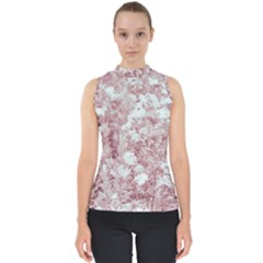 Pink Colored Flowers Shell Top
