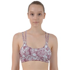 Pink Colored Flowers Line Them Up Sports Bra