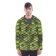 Green Mermaid Scales   Hooded Wind Breaker (men)