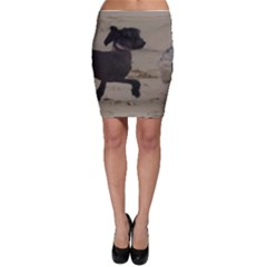 2 Chinese Crested Playing Bodycon Skirt