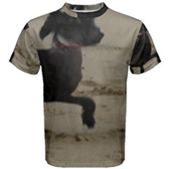 2 Chinese Crested Playing Men s Cotton Tee