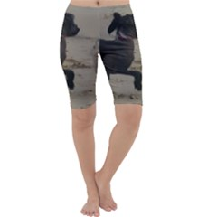 2 Chinese Crested Playing Cropped Leggings