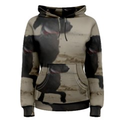 2 Chinese Crested Playing Women s Pullover Hoodie