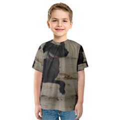 2 Chinese Crested Playing Kids  Sport Mesh Tee