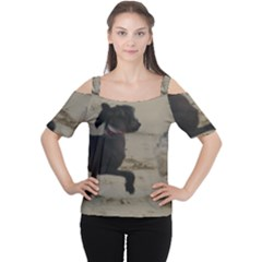 2 Chinese Crested Playing Cutout Shoulder Tee