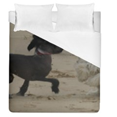 2 Chinese Crested Playing Duvet Cover (queen Size)