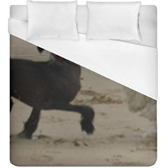 2 Chinese Crested Playing Duvet Cover (king Size)