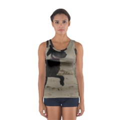 2 Chinese Crested Playing Sport Tank Top