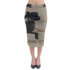 2 Chinese Crested Playing Midi Pencil Skirt