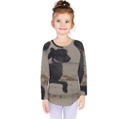 2 Chinese Crested Playing Kids  Long Sleeve Tee