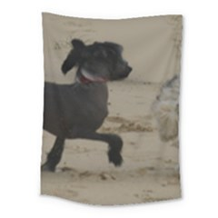 2 Chinese Crested Playing Medium Tapestry
