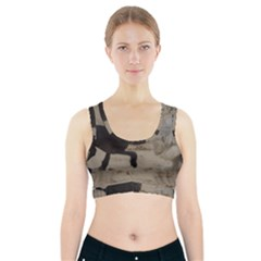 2 Chinese Crested Playing Sports Bra With Pocket