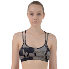 2 Chinese Crested Playing Line Them Up Sports Bra