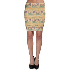 Hand Drawn Ethinc Pattern Background Bodycon Skirt