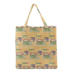 Hand Drawn Ethinc Pattern Background Grocery Tote Bag