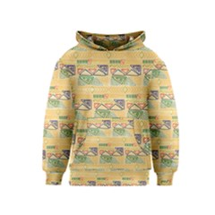 Hand Drawn Ethinc Pattern Background Kids  Pullover Hoodie