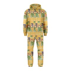 Hand Drawn Ethinc Pattern Background Hooded Jumpsuit (kids)