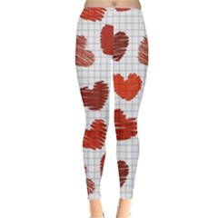 Paper Cells Heart Surface Texture 45031 3840x2400 Leggings