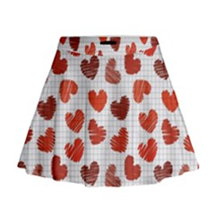 Paper Cells Heart Surface Texture 45031 3840x2400 Mini Flare Skirt