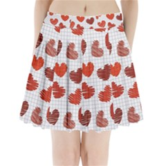 Paper Cells Heart Surface Texture 45031 3840x2400 Pleated Mini Skirt