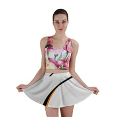 Gallery For  Abstract White Mini Skirt