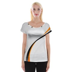 Gallery For  Abstract White Cap Sleeve Tops