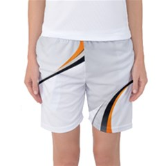 Gallery For  Abstract White Women s Basketball Shorts