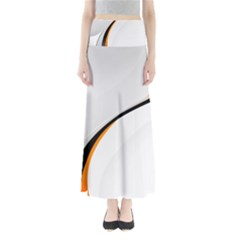 Gallery For  Abstract White Full Length Maxi Skirt