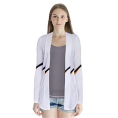 Gallery For  Abstract White Drape Collar Cardigan