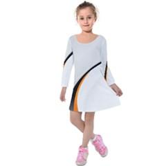 Gallery For  Abstract White Kids  Long Sleeve Velvet Dress