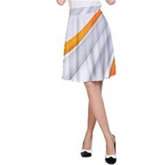Abstraction Yellow White Line  A Line Skirt