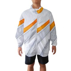 Abstraction Yellow White Line  Wind Breaker (kids)