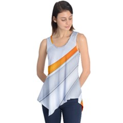 Abstraction Yellow White Line  Sleeveless Tunic