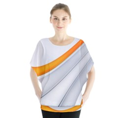 Abstraction Yellow White Line  Blouse