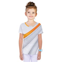Abstraction Yellow White Line  Kids  One Piece Tee