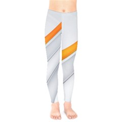 Abstraction Yellow White Line  Kids  Legging