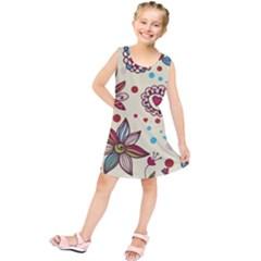Texture Birds Hearts Background Balls Surface  Kids  Tunic Dress