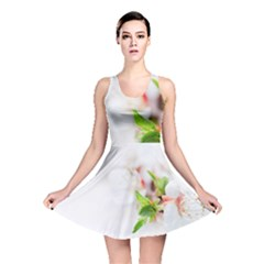 Fragility Flower Petals Tenderness Leaves  Reversible Skater Dress