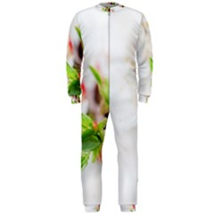 Fragility Flower Petals Tenderness Leaves  Onepiece Jumpsuit (men)