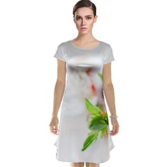 Fragility Flower Petals Tenderness Leaves  Cap Sleeve Nightdress