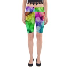 Abstraction Multicolored Glare  Yoga Cropped Leggings