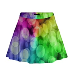 Abstraction Multicolored Glare  Mini Flare Skirt
