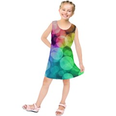 Abstraction Multicolored Glare  Kids  Tunic Dress